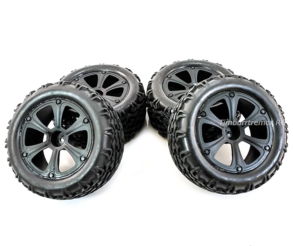 Redcat Racing Blackout XTE/XTE PRO Monster Truck Wheels & Tires, Glued 1:10/12mm