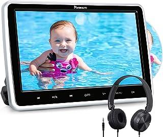 "NAVISKAUTO 10.1"" Car DVD Player with HDMI Input Headphone Headrest Mount Bracket Region Free Last Memory"