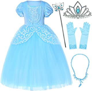 Party Chili Princess Costume for Girls Dress Up with Accessories 3-12 Years