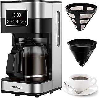 قهوه ساز قطره ای SHARDOR ، دستگاه قهوه قابل برنامه ریزی روی صفحه لمسی ، شروع به کار و خاموش شدن خودکار ، کنترل استحکام دم ، صفحه گرم کننده ، 50.72 اونس (1.5 لیتر)