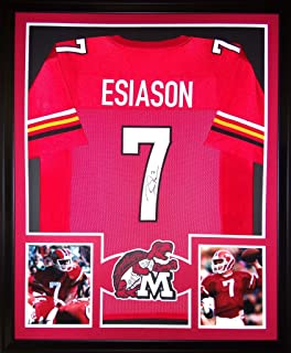 Boomer Esiason Maryland Terrapins Autograph Signed Custom Framed Jersey JSA Witnessed Certified