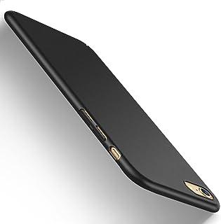 【Humixx】 iPhone6s ケース iPhone6ケース [ スリム ライト ] [ レンズ保護 衝撃 吸収 ] [ 一体感 ボタン保護 ] [ ガラスフィルム 付き ] ( iPhone 6s, iPhone 6, ブラック)[Skin Series]