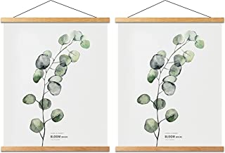 Mookgro 2 Pack Poster Hanger Frame 16x20 16x24 Magnetic Poster Frame Hanger Hanging Kit for Picture Photo Art Print or Can...
