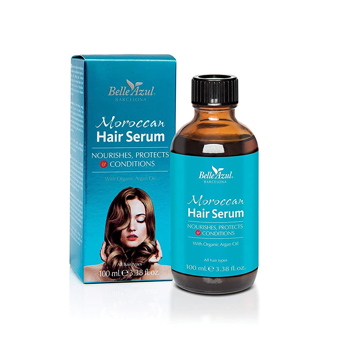 専門知識管理します暗いベルアスール (Belle Azul) モロッカン ヘア セラム 髪用 美容液 アルガンオイル 配合