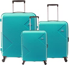 American Tourister Polypropylene Small - 55 cm, Medium - 68 cm & Large - 79 cm Hard Trolley Bag (Set of 3) (ZKK-ALL_Coral ...