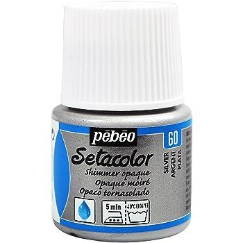 PEBEO Setacolor - Pintura para Tela (Opaca tornasolada, 45 ml), Color Plateado