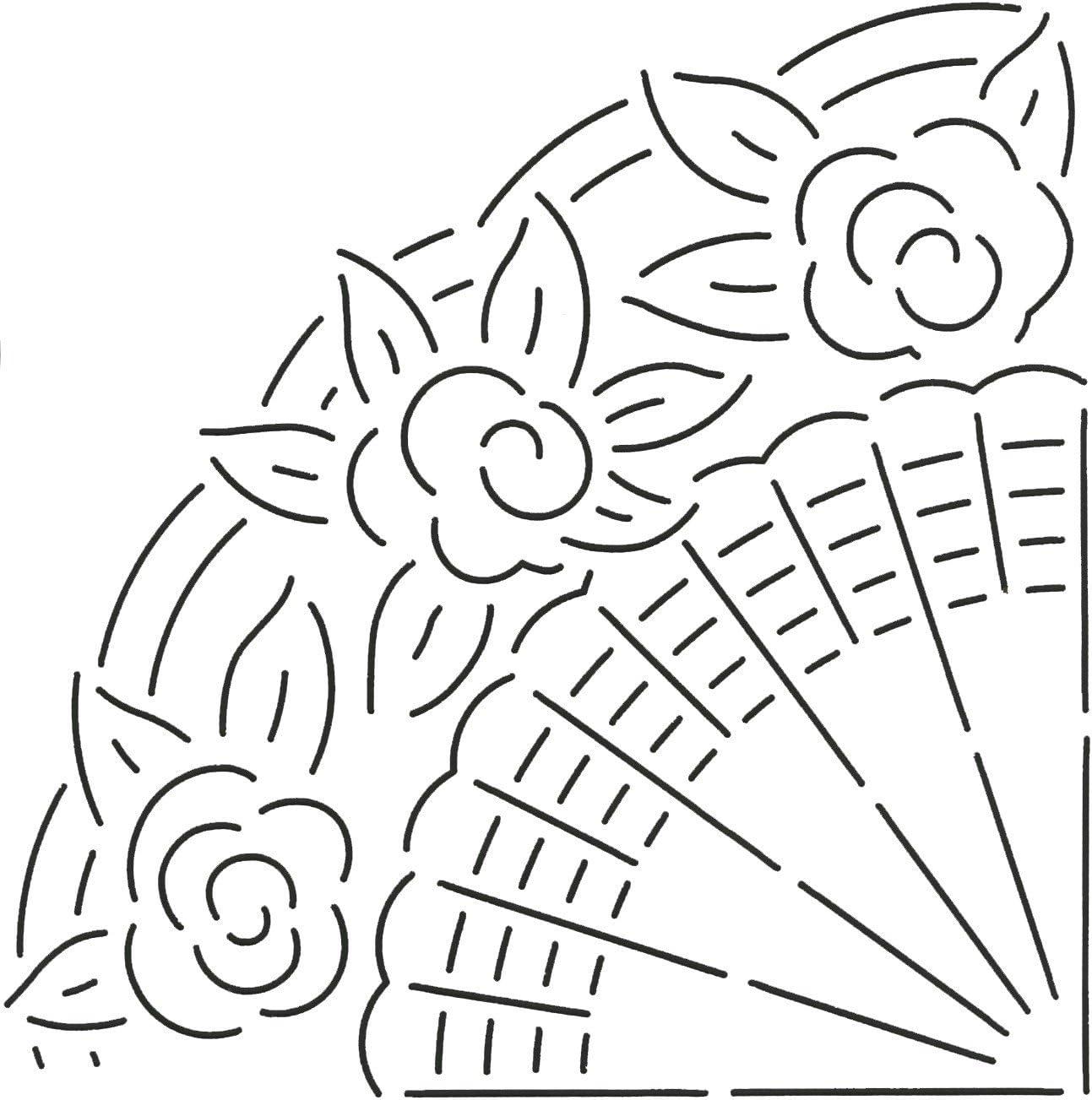 Quilting Creations Fan Design Stencil Quilt Genuine Max 87% OFF