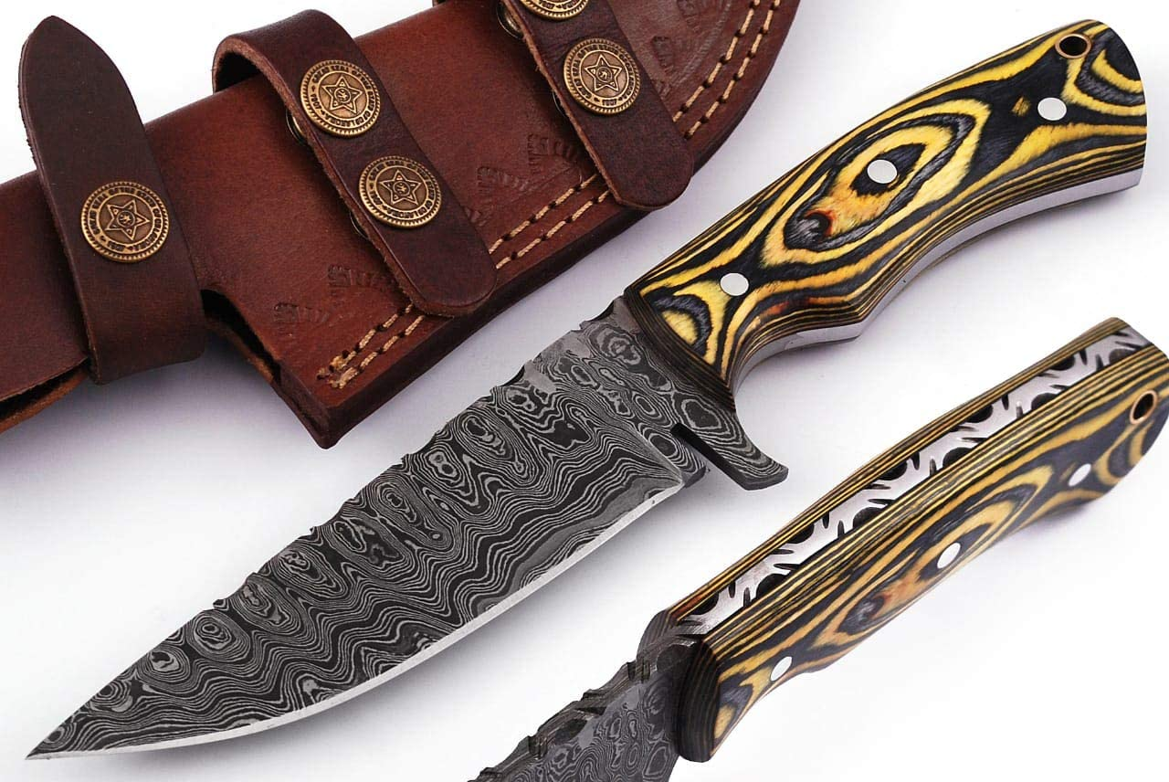 Grace Knives Handmade Damascus Fixed 2021 Super sale period limited spring and summer new Steel Blade Hunting