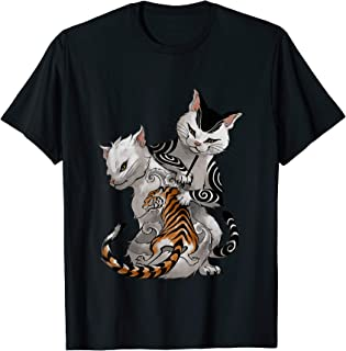 Irezumi Cat Artist with Traditional Japanese Tattoo T-Shirt