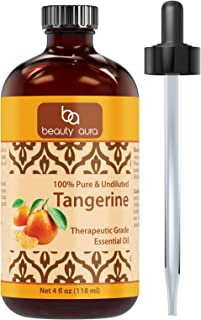 Sponsored Ad - Beauty Aura Tangerine Essential Oil - 4 Oz. Bottle - 100% Pure, Undiluted Therapeutic Grade Oils - Ideal fo...