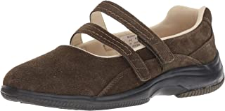 Propet Women's Twilight Mary Jane Flat, Olive Suede, 10H 2E US