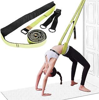 iArtker Yoga Stretch Strap Adjustable Leg Stretcher & Back Assist Trainer, Waist Back Bend Split Inversion Strap for Fitne...
