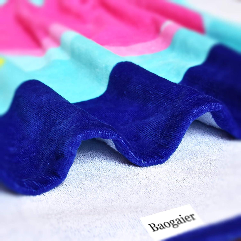 80 X 160 cm Bleu Coton Grande Coverture de Plage Piscine Douce Absorbante pour Enfant /& Adulte deau Voyage Vacances Plage Cadeau Serviette de Bain Baogaier Serviette de Plage Baleine Rose