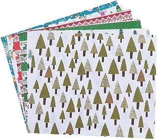EXCEART 6 peças de tecido de algodão de Natal com estampa de tecido acolchoado de tecido de patchwork para projetos de cos...