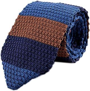 "Men`s Skinny Knit Tie Vintage Mixed Pattern Casual 2.4"" Necktie - Various Colors"