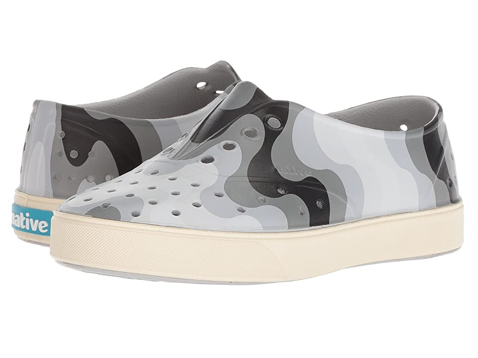 Native Kids Shoes Miller Print (Little Kid) (Mist Grey/Bone White/Dublin Wave) Kid
