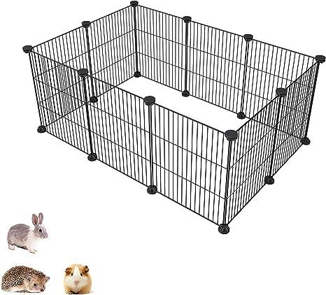 61CM* 61CM 8 Piezas Conejillos de Indias o Perros para Conejos Bellanny Jaula Plegable para Animales Peque/ños con Puerta Montaje DIY para Mascotas Valla para Exteriores e Interiores