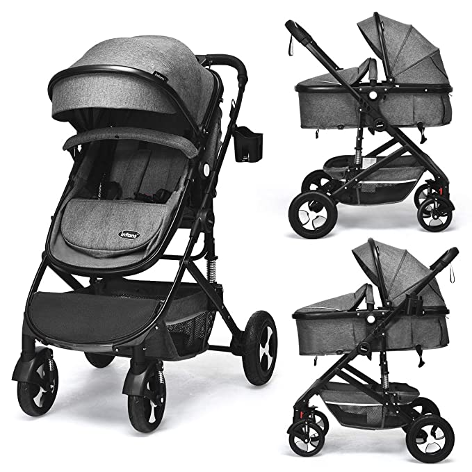 INFANS 2 in 1 Convertible Baby Stroller - Maximum Safety