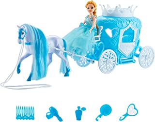 """Bettina Horse Carriage and Princess Doll, Crown Carrige Fairy Tale Princess 6"""" Doll (Blue) (Crown, Blue)"""
