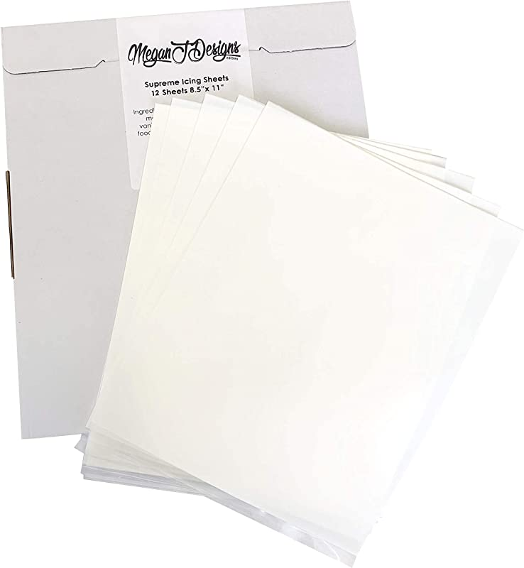 Supreme Icing Sheets 12 Pack Premium White 8 5 X 11 By MeganJDesigns