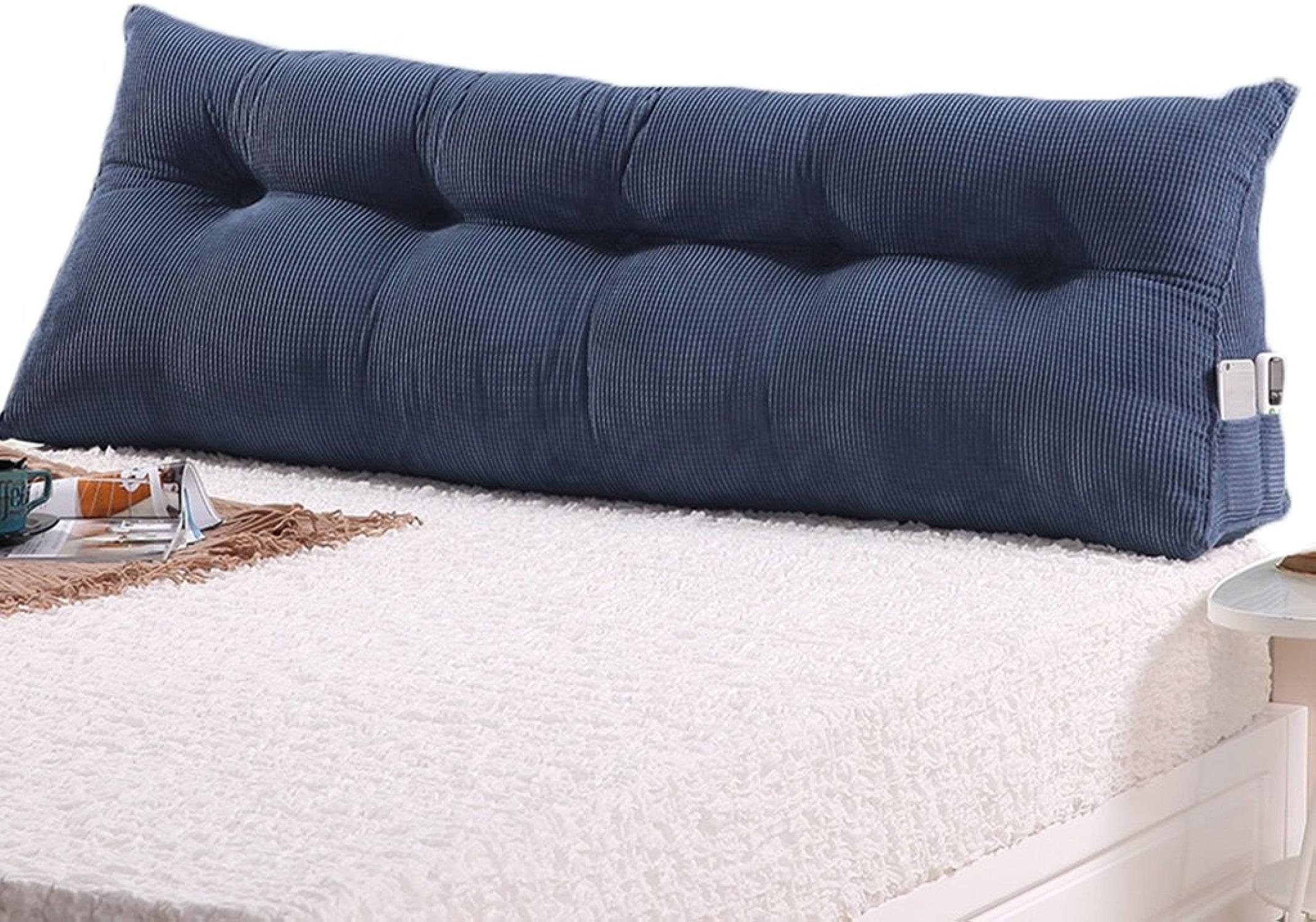 GYP Coussin de coussin à oreille à oreille Coussin de chevet étui à double épaisseur Coulé à oreiller double Coussin à oreiller double Coussin de taille lavable Coussin de taille lavable Coussin de couette acheter ( Couleur   Bleu , taille   1205022CM )