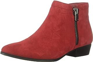 dark red flat boots