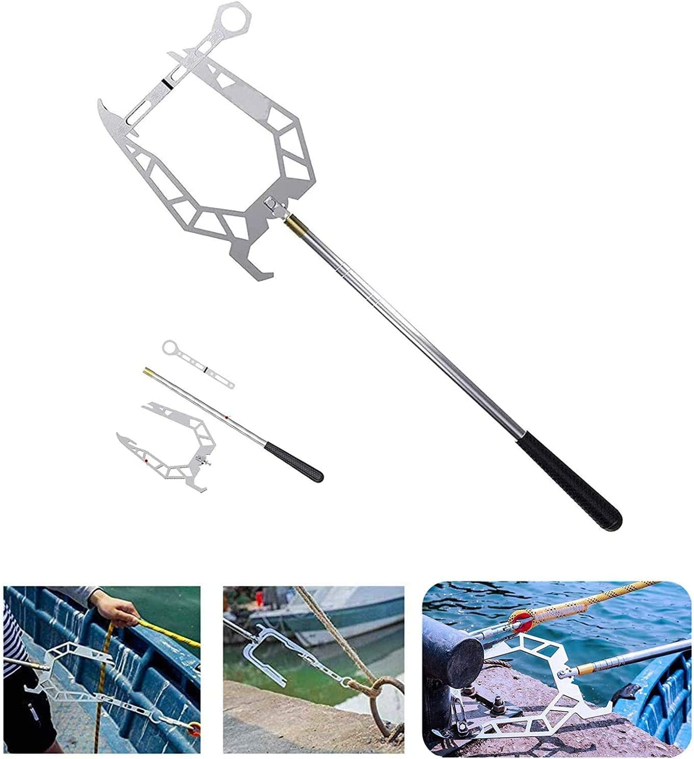 AGIZIO Boat Hooks Flexible Long-Distance Stainless Over item handling Ranking TOP20 ☆ St Threader
