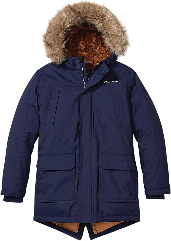 Eddie Bauer Boys Parka Coat Fur Free Shipping Cheap 5 popular Bargain Gift Winter Hood Down -