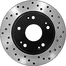 [Rear E-Coat Drilled Brake Rotors Ceramic Pads] Fit 03-05 Nissan 350Z Base
