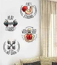 Rawpockets Gym Quotes Combo' Wall Sticker (PVC Vinyl, 55 cm x 60cm, Set of 4, Multicolour)