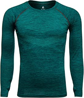 Camiseta de compresión para hombre, de secado rápido, de manga larga, de compresión