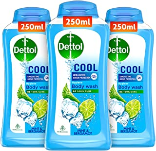 Dettol Body Wash and Shower Gel, Cool - 250ml Each (Buy 2 Get 1)