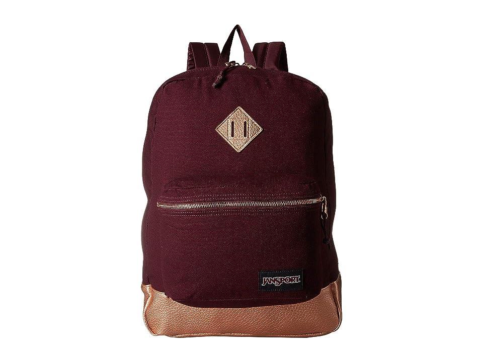 JanSport Super FX (Dried Fig/Rose Gold) Backpack Bags