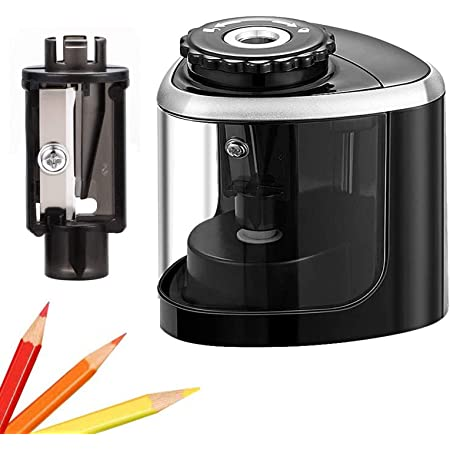 Details about  /1pc Pencil Sharpener Durable Convenient Electric Portable Stationery for School