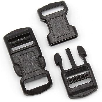 10 Steckschnalle schwarz 25 mm Schnalle Steckverschluss Gurtverschluß Kunsstoff