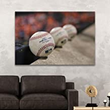 wall26 - Canvas Wall Art Sports Theme - Close up Baseballs - Giclee Print Gallery Wrap Modern Home Decor Ready to Hang - 24x36 inches
