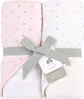 Just Born Sparkle 2pk Hooded Towel Set, Pink