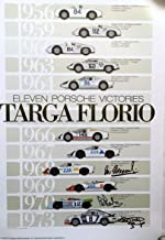 Porsche 11 Victories at The Targa Florio, Sicily. Poster Autographed by 3 Targa Florio Winners: Brian Redman, Vic Elford and Gijs Van Lennep