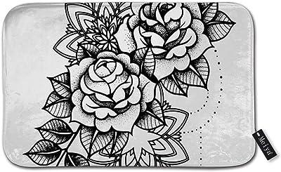 """Rose Tattoo, Mystic Symbol Doormat Entrance Mat Floor Mat Rug Indoor/Bathroom Mats Rubber Non Slip (23.6""""x15.8"""",L x W)"""