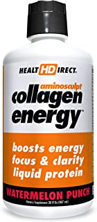 High-Energy Liquid Collagen | AminoSculpt Collagen Energy | 30 Fl Oz | Watermelon Punch | Supports Focus and Clarity | Boo...