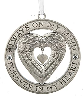 Midwest-CBK Always on My Mind, Forever in My Heart Angel Wing Heart Memorial Ornament