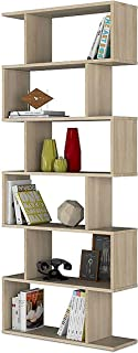 Habitdesign 301011F - Estanteria Athena Alta libreria Abierta Salon 80 x 25 x 192 cm de Altura (Roble Candian)