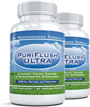 PuriFlush Ultra 2 Bottles – Most Powerful Detox Colon Cleansing Formula Complete Digestive Detoxifying Supplement and Intestinal Cleanse for Weight Loss 60 Caps Per Bottle Estimated Price : £ 14,95