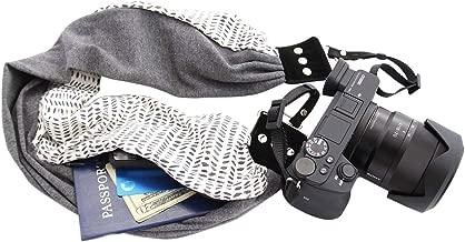 Scarf Camera Strap with Hidden Pocket; Comfortable & Unique (KylaSasha)