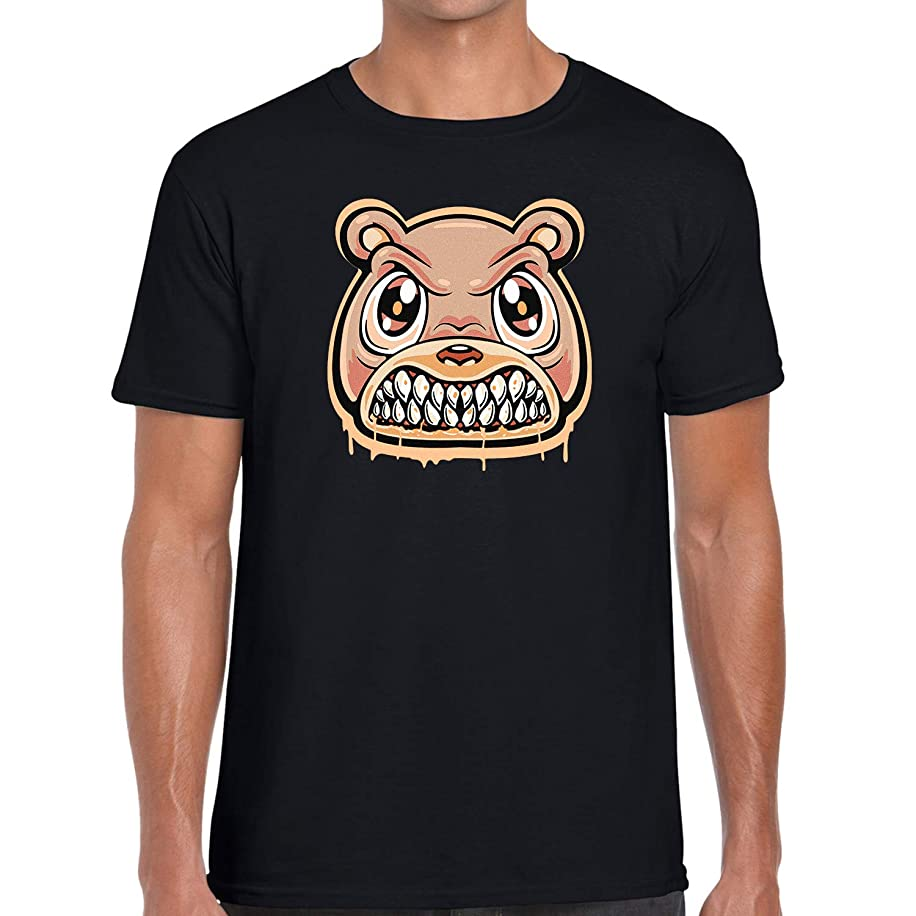 Custom Graphic Printed T Shirt to Matching Yeezy Boost 350 V2 Clay Angry Bear Drip