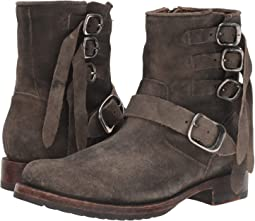 Fadded Black Oiled Suede