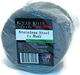 Rogue River Tools Stainless Steel Wool 1lb Roll (Medium Grade) - Made in USA!