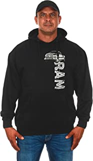JH DESIGN GROUP Men's Dodge RAM Truck Logo Pullover Hoodie