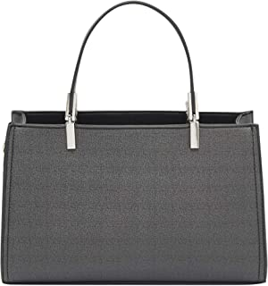 Textured Shoulder Bag with Detachable Strap and Zip Closure
