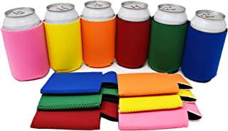 TahoeBay 12 Neoprene Can Sleeves for Standard 12 Ounce Cans Blank Beer Coolers (Multicolor, 12)